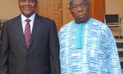 Dangote with Olusegun Obasanjo