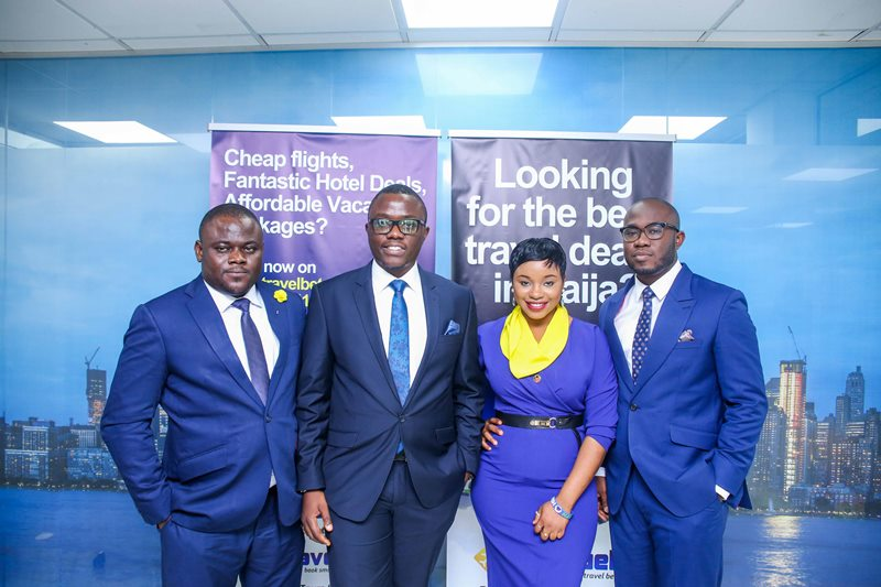 L-R: Travelbeta.com operations manager David Asuku, Chief commercial officer Mr Onyeka Akumah and Chief technology officer Wole Ayorinde