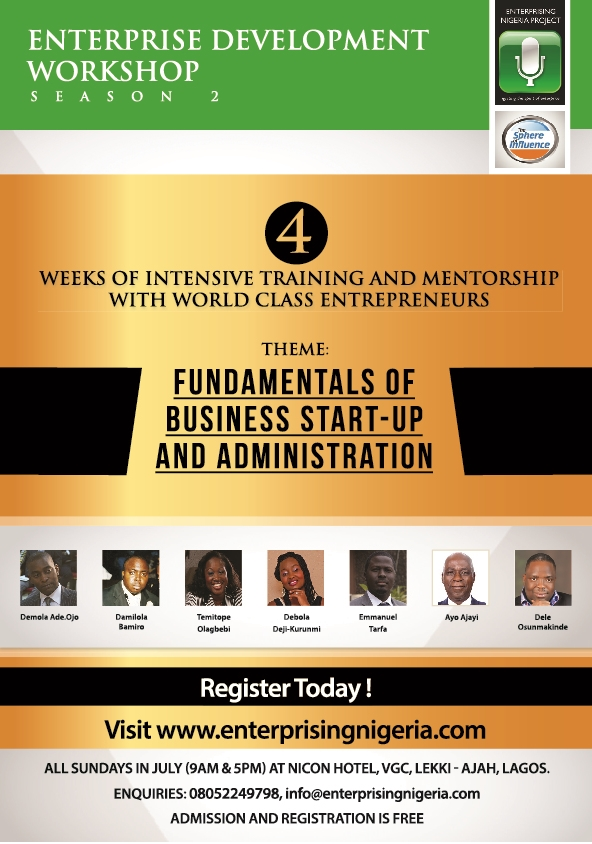 Free Entrepreneurship Workshop: Fundamentals of Business Start-Up and Administration