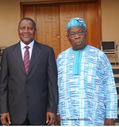 Aliko Dangote, Olusegun Obasanjo partner to connect African Entrepreneurs to Foreign Investors.