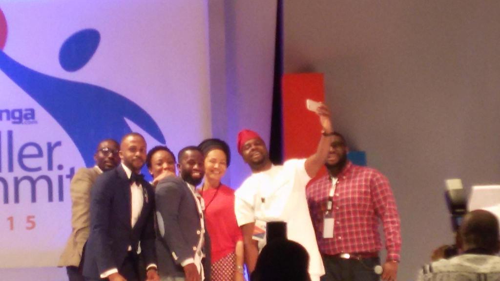 SelfieMoment: Panelists taking a selfie