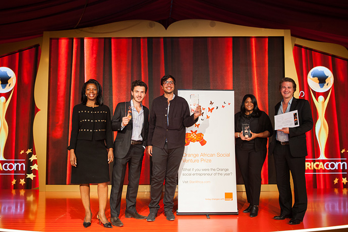 """Innovative """"click funding"""" Egyptian startup wins 25,000 euros at the 2015 Orange African Social Venture Prize"""