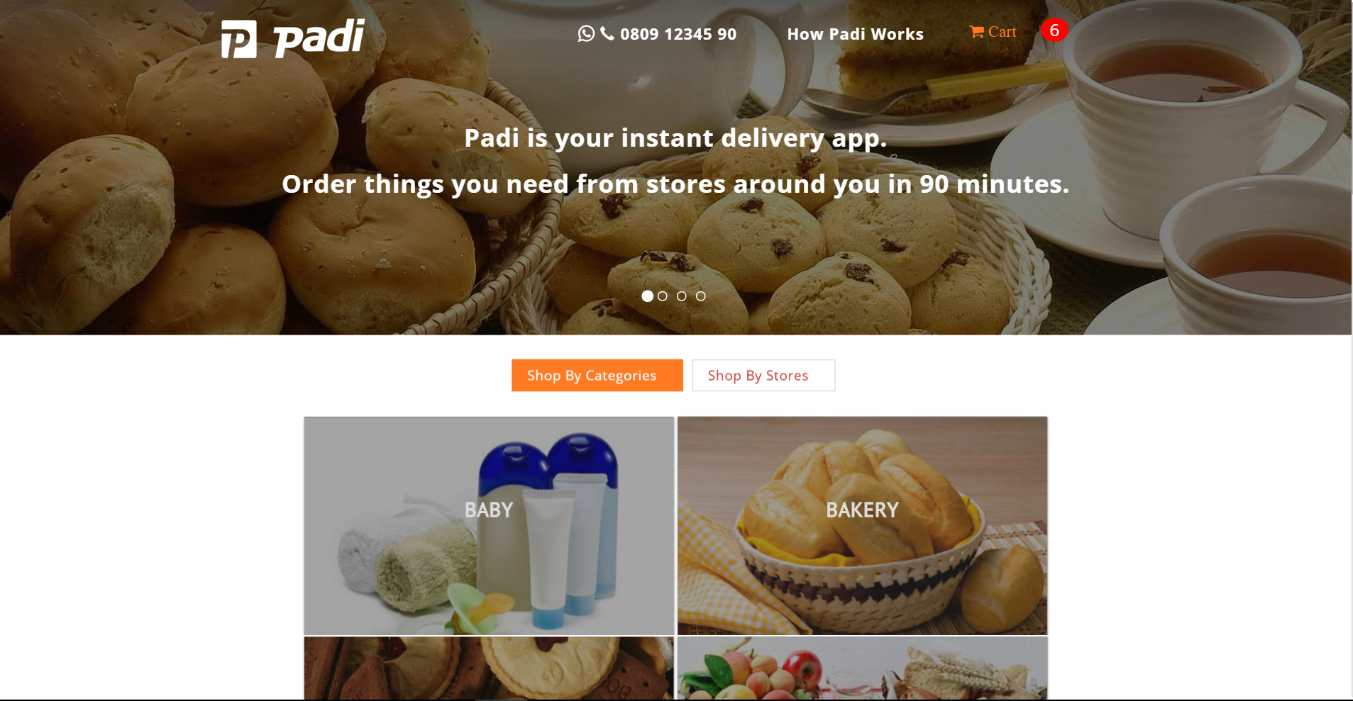 It's goodbye to 24-hr delivery as Padi.ng partners stores around you for 90 min delivery