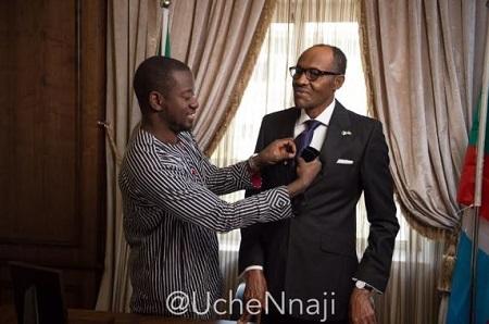 OUCH CEO Uche Nnaji styling President Buhari