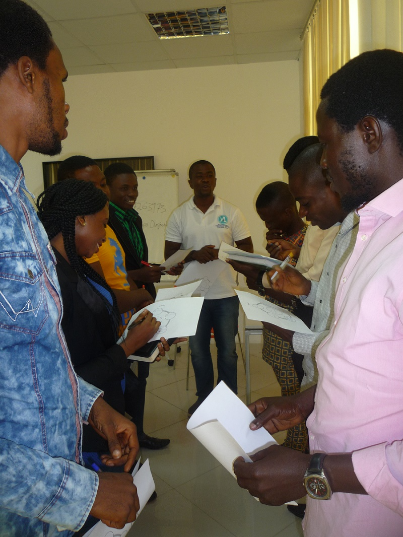 A cross section of the workshop.