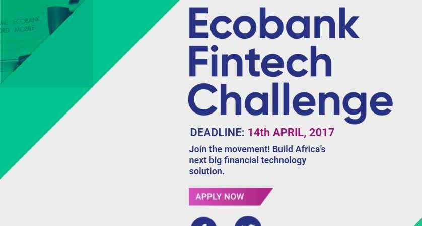 Ecobank African Fintech Startups Challenge: Apply to win $500,000