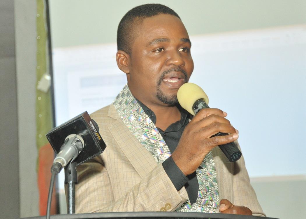 Moses Imayi Project Director, SkoolMedia inaugurating the IoT Ambassadors