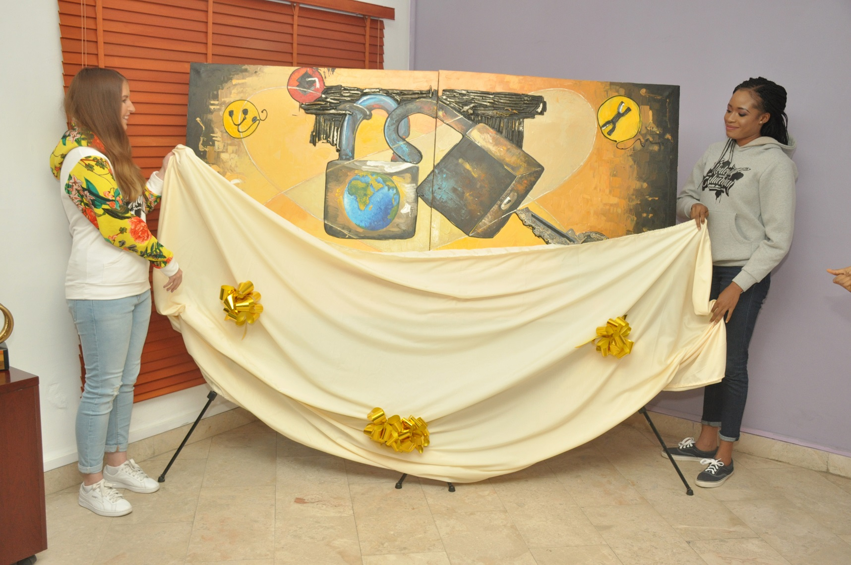 The unveiling of the artwork